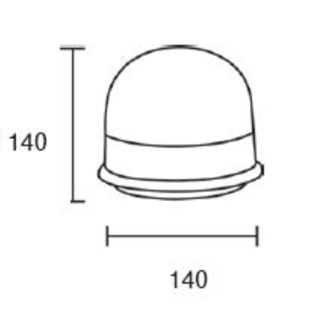 beacon lamp led amber 12  24v 3 bolt fixation  open end